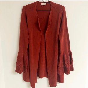Ann Taylor LOFT Bell Sleeve Cardigan Sweater XL